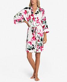 Perdita Floral-Print Wrap Robe