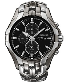 Men's Chronograph Solar Excelsior Two-Tone Stainless Steel Bracelet Watch 43mm  SSC139