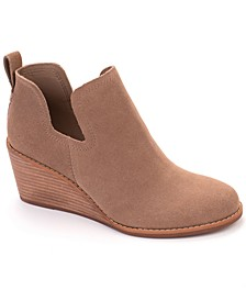 Women's Suede Kallie Wedge Booties