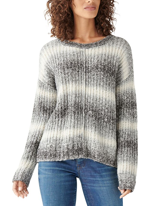 Lucky Brand - Dropped-Shoulder Space-Dye Sweater