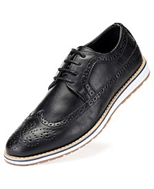 Men's Ornate Wingtip Casual Oxford Shoes