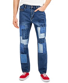 Men's Jude Loose-Patch Jeans, Created for Macy's