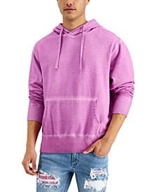 Men's Garment-Washed Fleece Hoodie, Created for Macy's