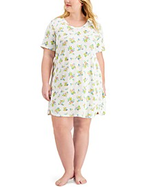 Plus Size Printed Sleep Shirt Nightgown, Created for Macy's