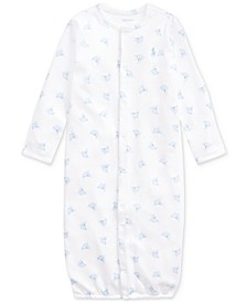 Ralph Lauren Baby Boys Boat-Print Convertible Gown Coverall