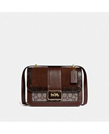 COACH Alie Shoulder Bag In Signature Jacquard With Snakeskin Detail