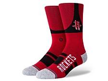 Men's Houston Rockets Shortcut 2 Crew Socks