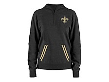 5th and Ocean New Orleans Saints Women's Team Quarter Zip Pullover