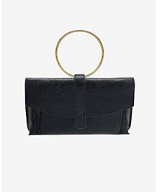 Metallic Coated Envelope Clutch with Ring Handle