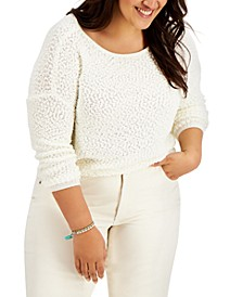 Trendy Plus Size Ballet-Neck Sweater