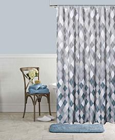Mosaic Shower Curtain Set, 13 Pieces