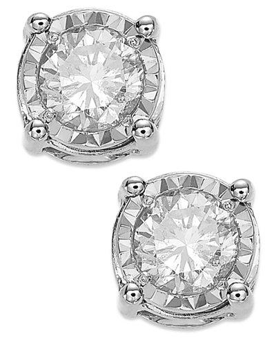 Trumiracle Diamond Stud Earrings 3 4 Ct T W In 14k White
