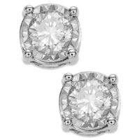 Macys deals on TruMiracle Diamond Stud Earrings 3/4 ct. t.w. in 14K White Gold