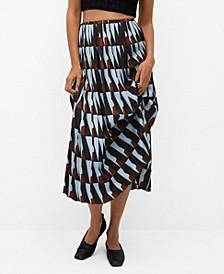 Women's Geometric Print Skirt