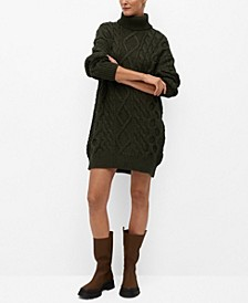 Women's Knitted Turtleneck Dress