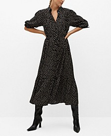 Women's Ruffle Printed Dress