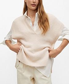 Women's V-Neck Knit Gillet