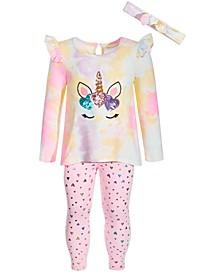 Baby Girls 2-Pc. Tie-Dye Unicorn Tunic & Leggings Set