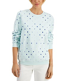 Brushed-Dot Pattern Top, Created for Macy's