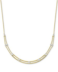 Diamond Bezel Necklace ( 1/4 ct. t.w.) in 10K White Or Yellow Gold