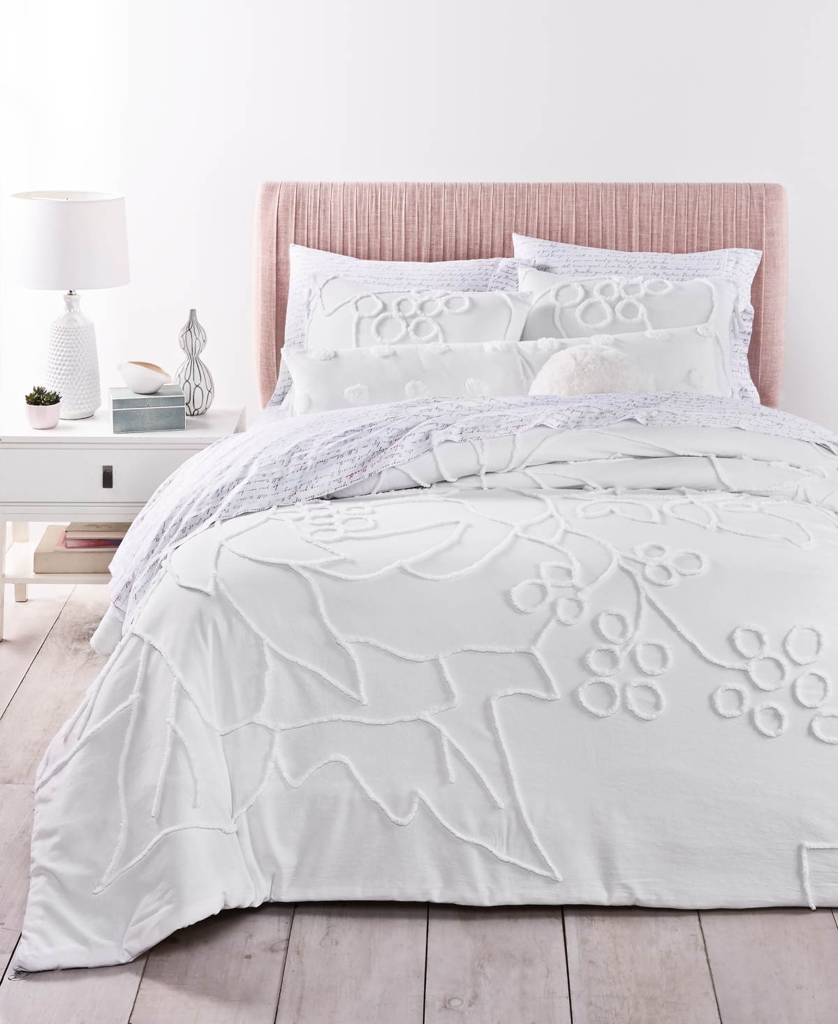 Whim by Martha Stewart Collection Chenille Exploded Floral 3-Pc King Comforter Set, Created for Macy's Bedding