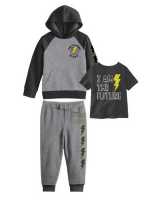 Toddler Boys I Am The Future Hoodie with T-shirt and Fleece Pant Set, 3 Piece