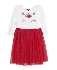 Little Girls Sequins Skirt Dress