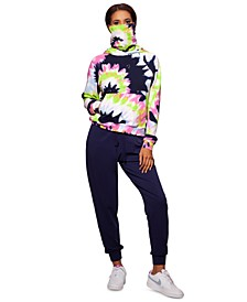 Tie-Dyed Hoodie With Attached Mask, Created for Macy's