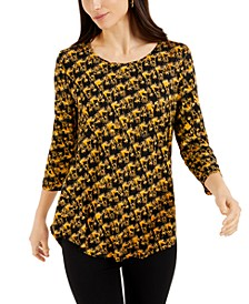 Printed Textured Top, Created for Macy's