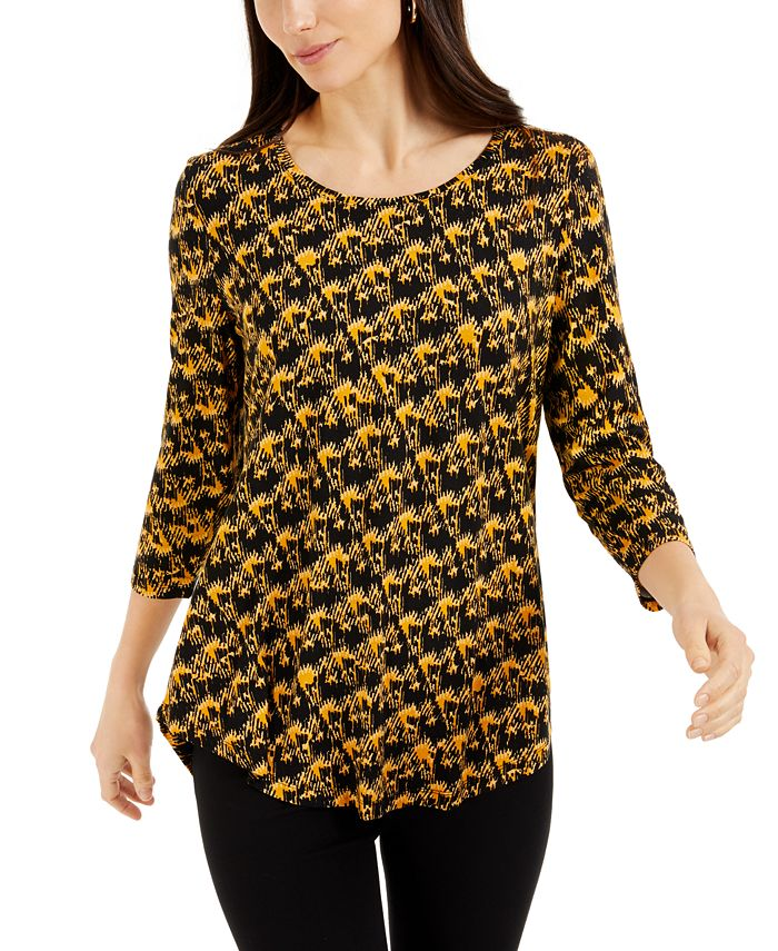 JM Collection - Printed Textured Top