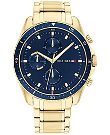 Men's Chronograph Gold-Tone Bracelet Watch 44mm