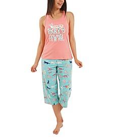 Party Animal Capri Pajamas Set