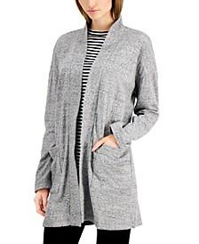 Organic Cotton High-Collar Cardigan