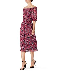 Paisley Printed Chiffon Midi Dress, Created for Macy's