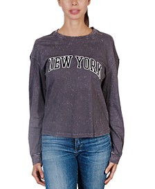 Juniors' New York Long-Sleeve T-Shirt