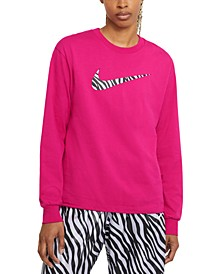 Women's Sportswear Cotton Long-Sleeve Top