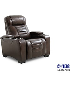 "Raylander 40"" Leather Power Recliner, Created for Macy's"