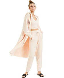 CULPOS X INC Fuzzy Cardigan Sweater, Cropped Tank Top & Knit Joggers, Created for Macy's