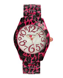 Women's Cheetah Pink Stainless Steel Watch 40mm