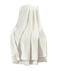 Sherpa Tassel Fringe Throw Blanket