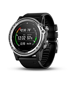Unisex Descent Mk1 Watch-style Diver Computer Black Strap Smartwatch 51mm