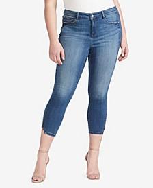 Women's Regular Skinny Crop Zip Hem Jeans
