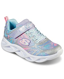 Little Girls S - Lights Twist Brights - Dazzle Flash Slip-on Casual Sneakers from Finish Line