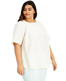 Plus Size Boat-Neck Top, Created for Macy's