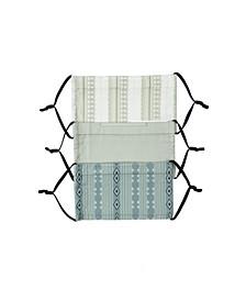 Adult 3-Pk Plaid and Stripe Print 5 Face Mask Set