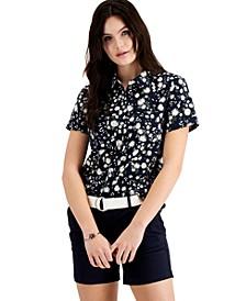 Cotton Daisy-Print Camp Shirt