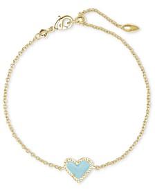 Gemstone Heart Link Bracelet