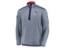 New York Rangers Men's Travel & Training Quarter Zip Pullover
