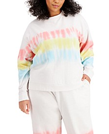 Trendy Plus Size Tie-Dyed Sweatshirt