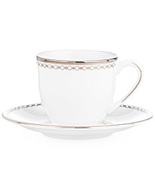 Lenox Pearl Platinum Espresso Cup and Saucer Set